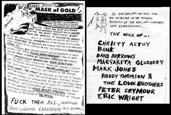 BANK- Mask of Gold
