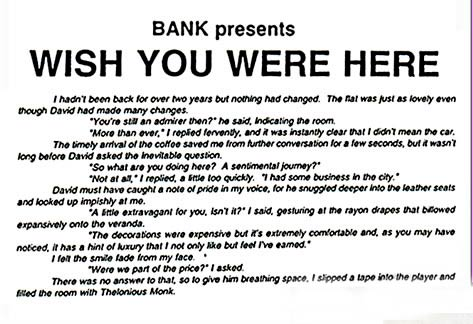 BANK- Wish you were here